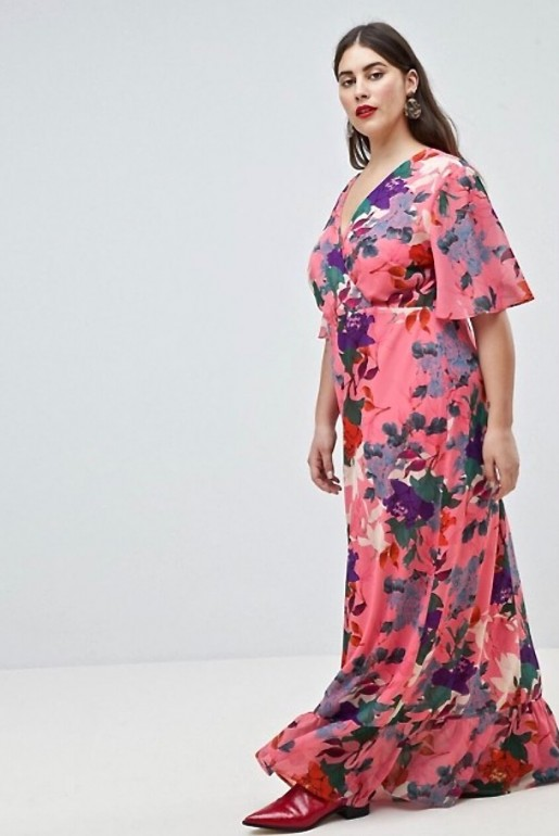 KIMONO MAXI DRESS IN BRIGHT FLORAL - Image 4